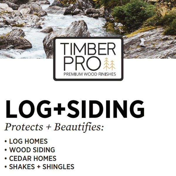 timber pro log and siding stain label
