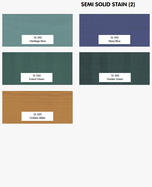Timber Pro Stain semi solid colors part 2