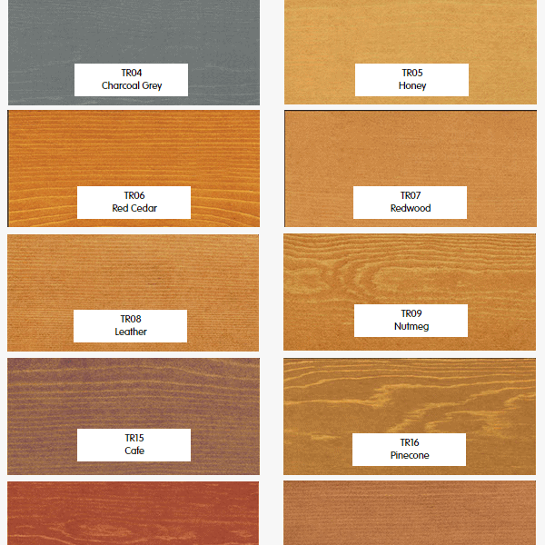 Timber Pro Stain transparent colours part 1