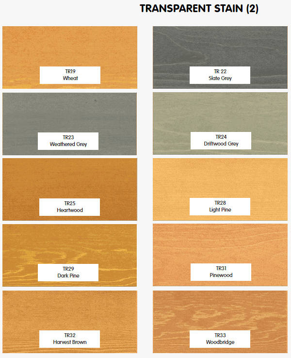 Timber Pro Stain transparent colours part 2