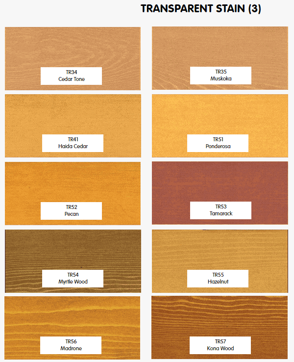 Timber Pro Stain transparent colours part 3
