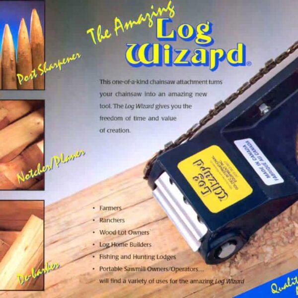 log wizard brochure showing log peeling