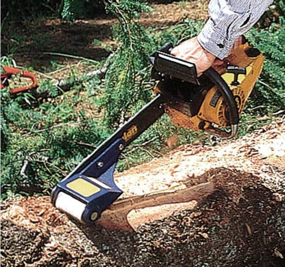 log wizard peeling a log