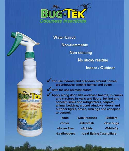 Feature sheet for Bug-Tek insecticide